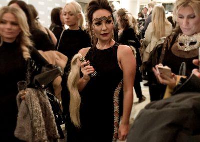"""Mascha Wang med """"Mademoiselle Sade"""" til VIP-premieren på Fifty Shades Darker den 7. februar 2017. Foto: Bent Holm"""