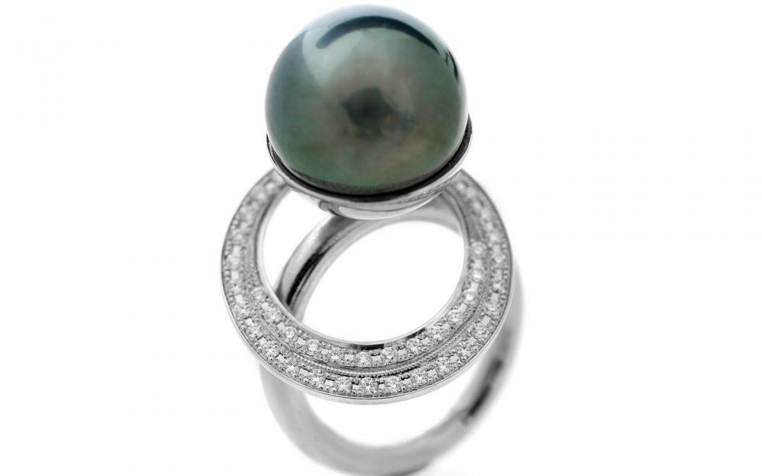Sandollar Ring With Diamonds