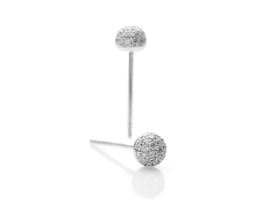 Diamond Globe Earrings