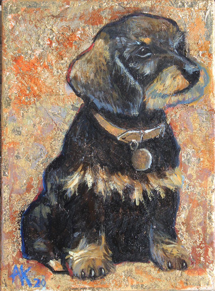 Portrait of dog